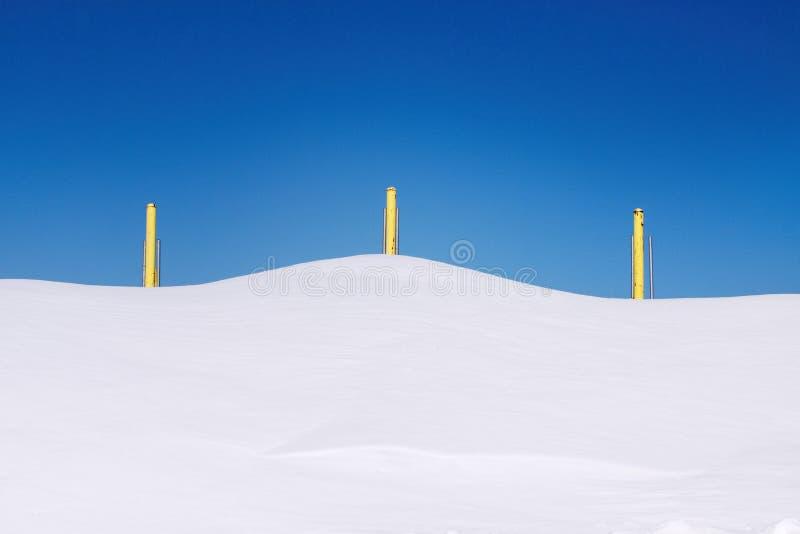 Образования снега стоковое изображение rf
