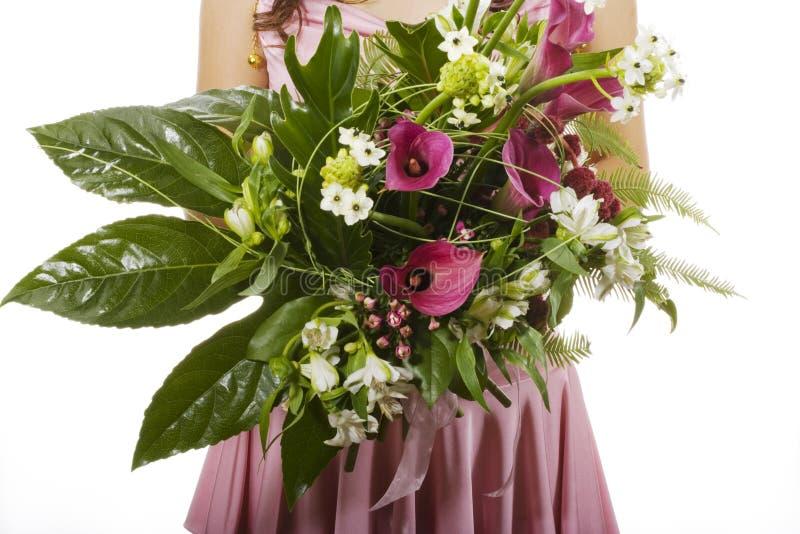 образуйте девушку цветков стоковые изображения