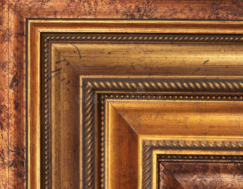 образцы изображения золота рамки стоковые изображения