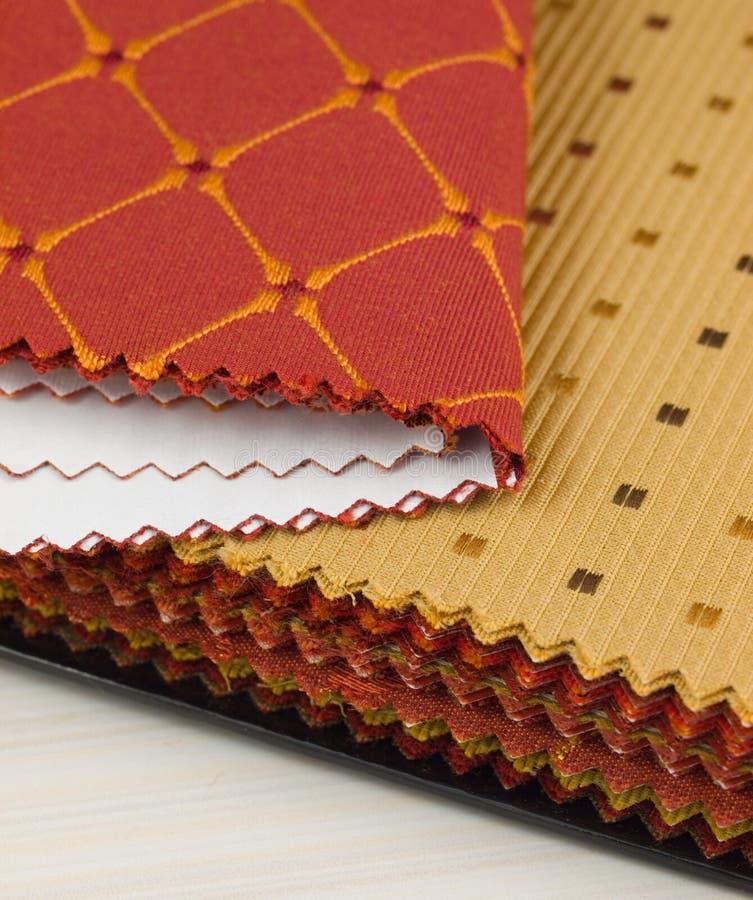 образцы ткани стоковое фото