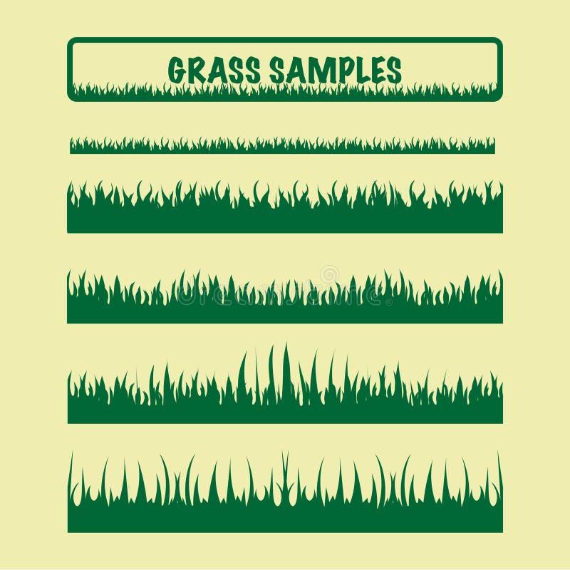 Образцы травы, различные иллюстрация штока