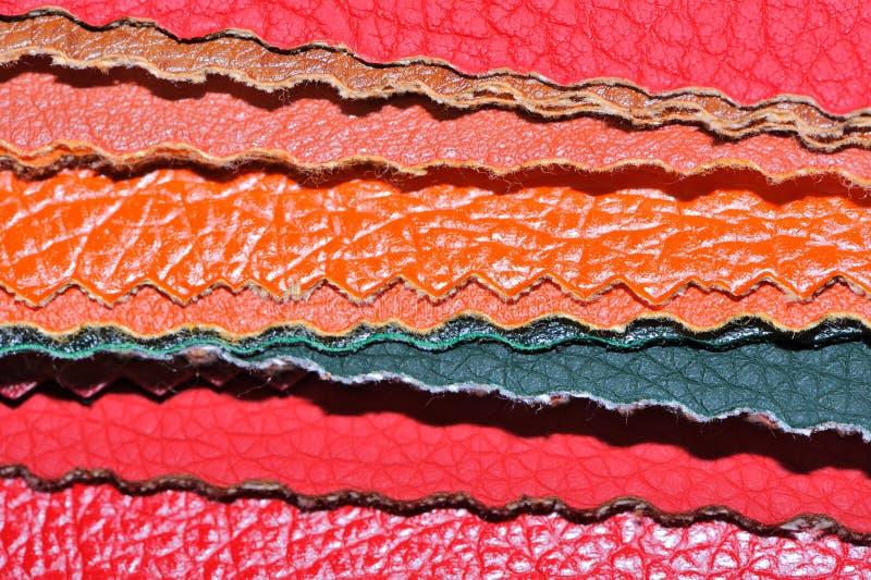 Образцы Faux кожаные стоковое изображение