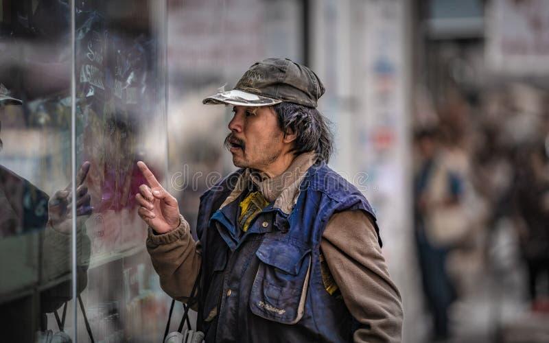 Образ жизни человека в Гонконге стоковое фото