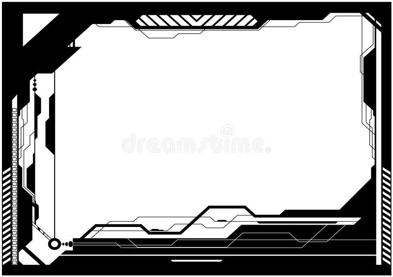 обрамите высокотехнологичное иллюстрация вектора