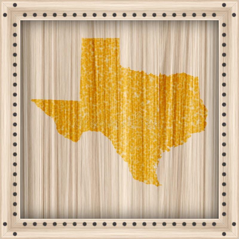 обрамленная карта texas иллюстрация вектора