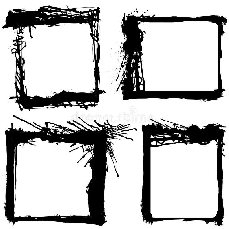 обрамляет вектор grunge иллюстрация штока