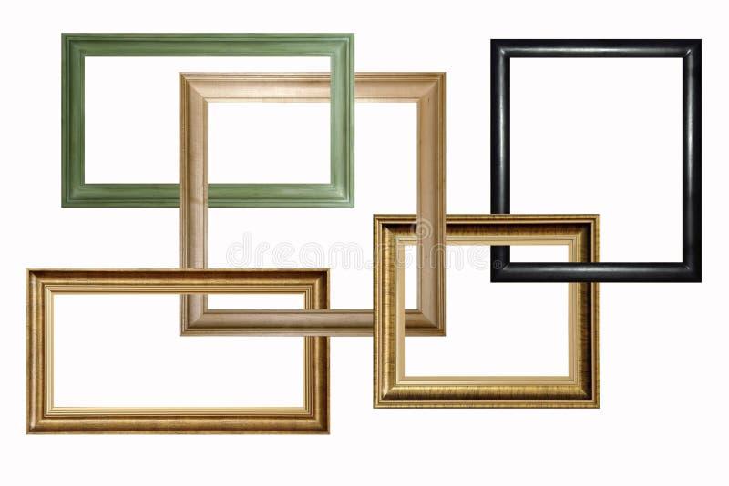 обрамляет деревянное стоковые фото