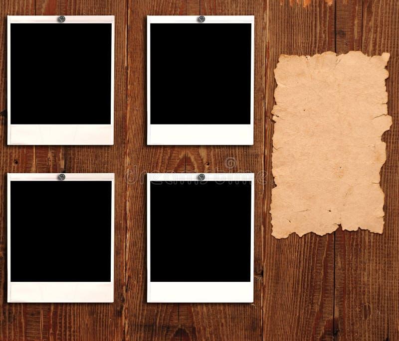обрамляет старое бумажное фото стоковые изображения