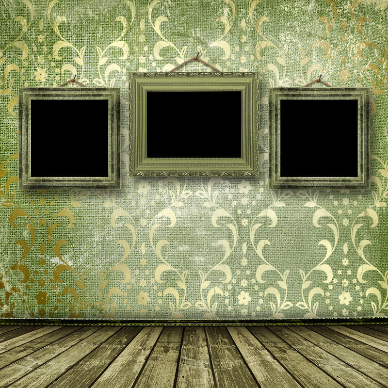 обрамляет стену викторианец старого типа золота иллюстрация штока