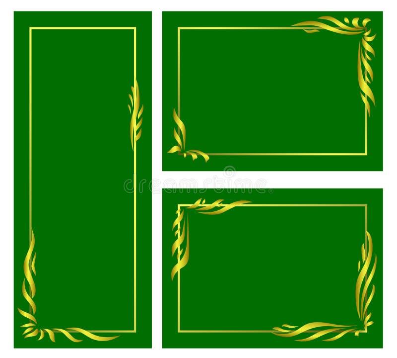 обрамляет установленный квадрат иллюстрация штока