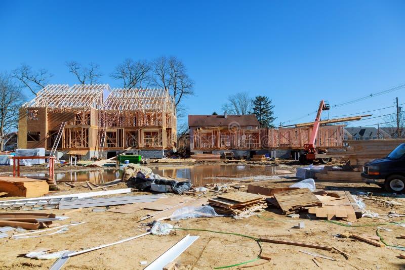 Обрамлять конструкци-дома нового дома стоковые фотографии rf