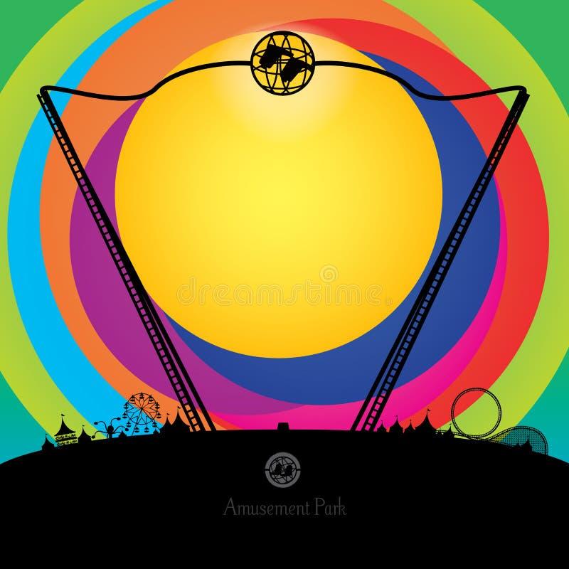 Обратные bungee и парк атракционов бесплатная иллюстрация