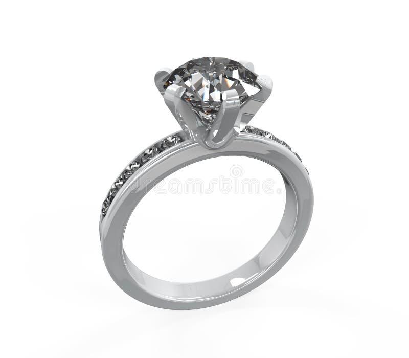Обручальное кольцо диаманта иллюстрация штока