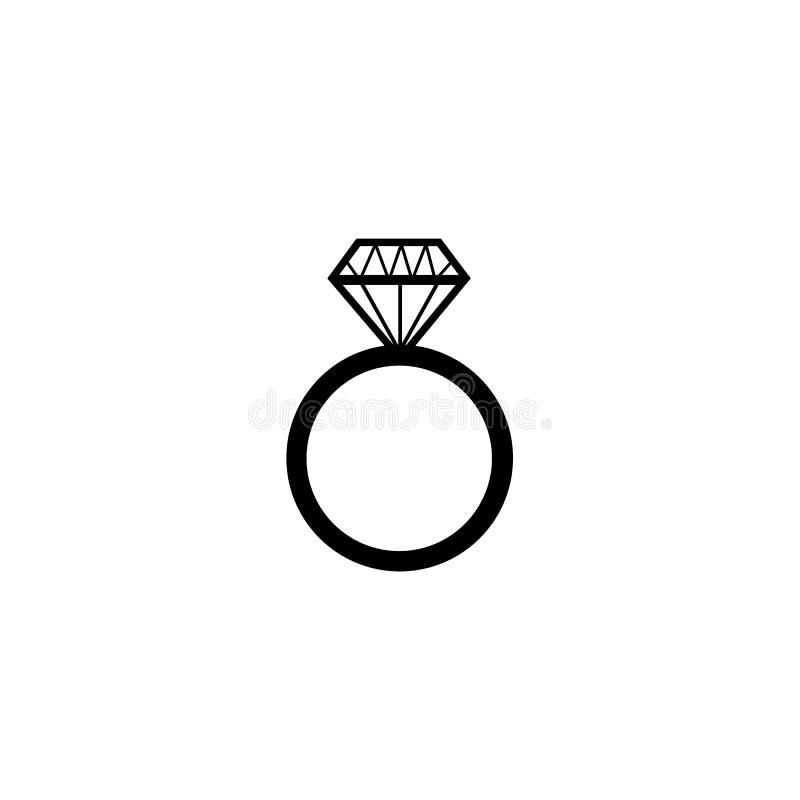 Обручальное кольцо диаманта бесплатная иллюстрация