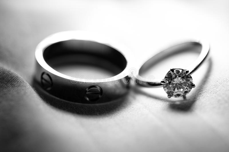 Обручальное кольцо пар стоковые фото