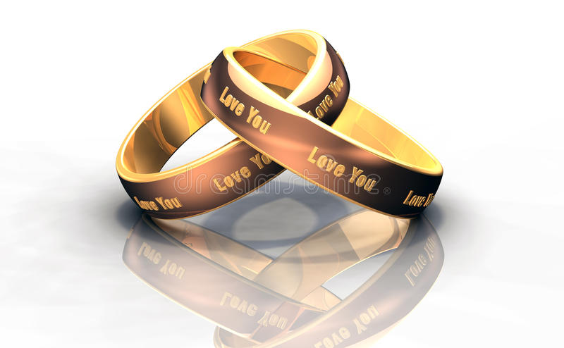 Обручальные кольца золота иллюстрация штока