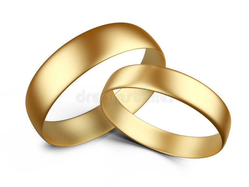 Обручальные кольца золота иллюстрация вектора