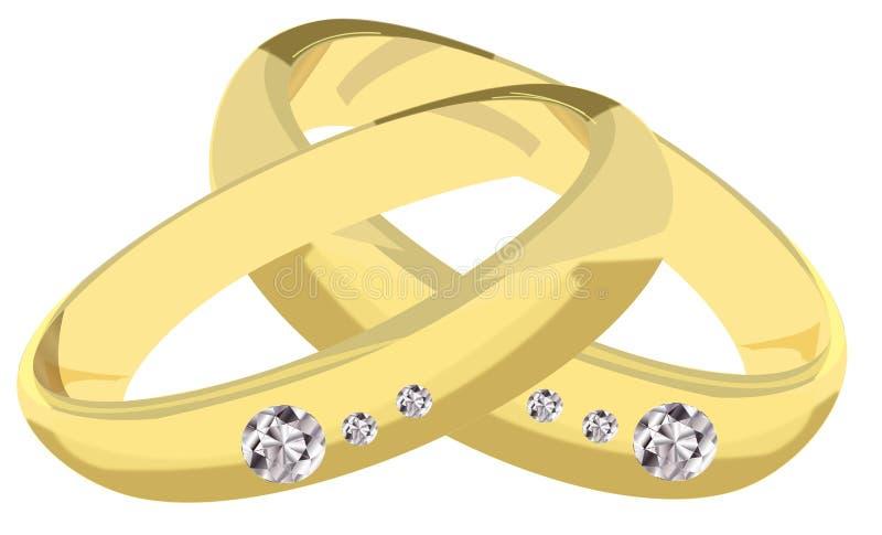 Обручальные кольца иллюстрация штока