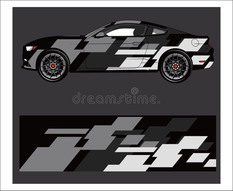Обруч автомобиля Абстрактная прокладка для обруча, стикера, и этикеты гоночного автомобиля бесплатная иллюстрация