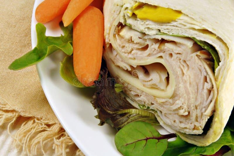 обруч индюка сандвича стоковое изображение rf