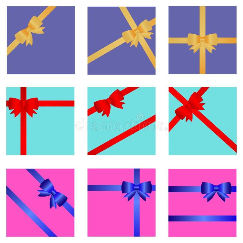 Обруч подарка с лентой и смычком иллюстрация вектора