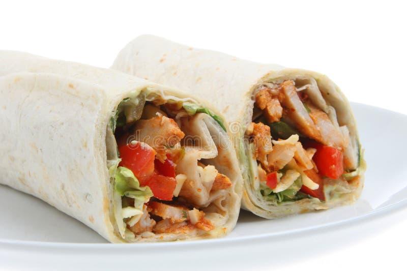 обруч сандвича fajita цыпленка стоковое фото