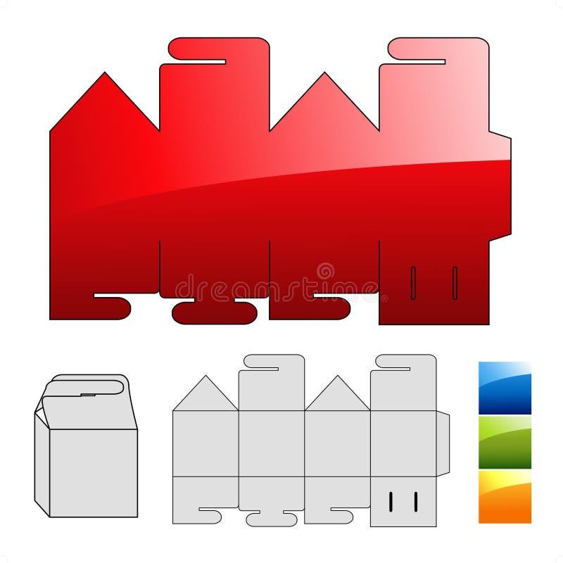 обруч шаблона головоломки коробки иллюстрация вектора