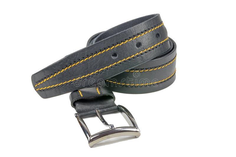 Обрушенный пояс брюк, черное сшитый с желтым потоком стоковые изображения