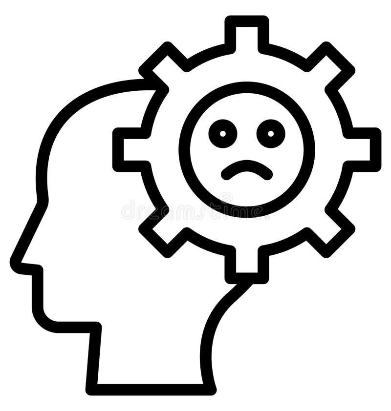 Обрыв мозга изолировал значок вектора который может легко доработать  иллюстрация вектора