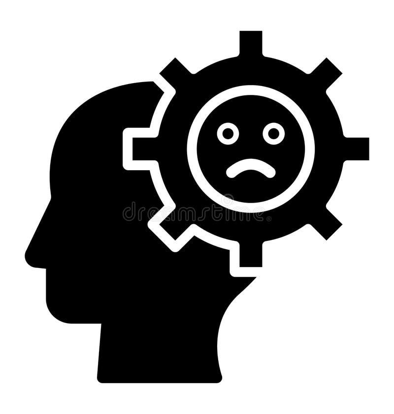 Обрыв мозга изолировал значок вектора который может легко доработать или отредактировать бесплатная иллюстрация