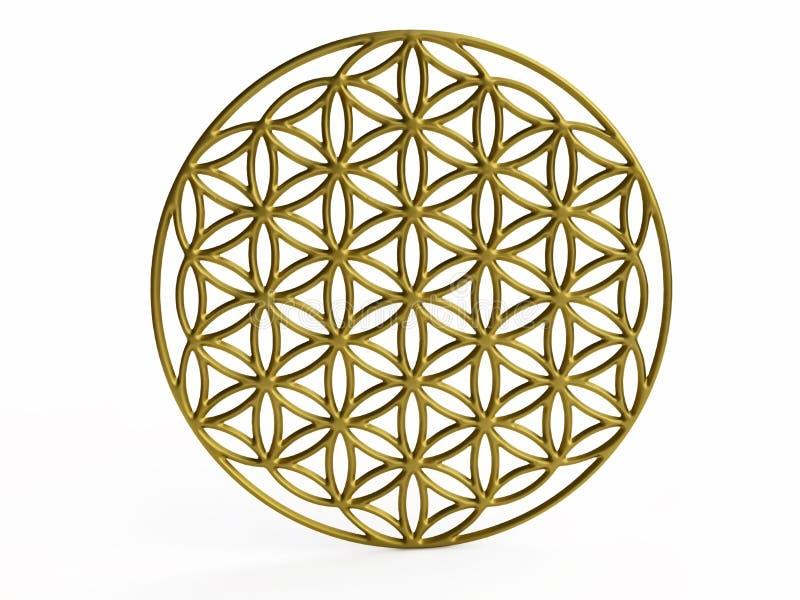 Обрядовый цветок символа жизни иллюстрация вектора