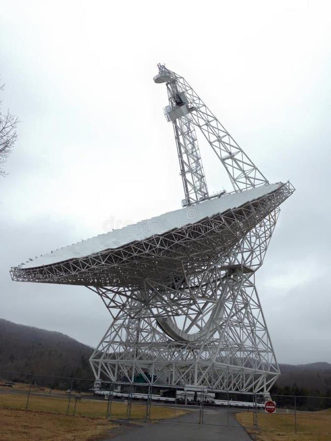 Обсерватория астрономии национального радиовещания, Западная Вирджиния, США стоковые изображения