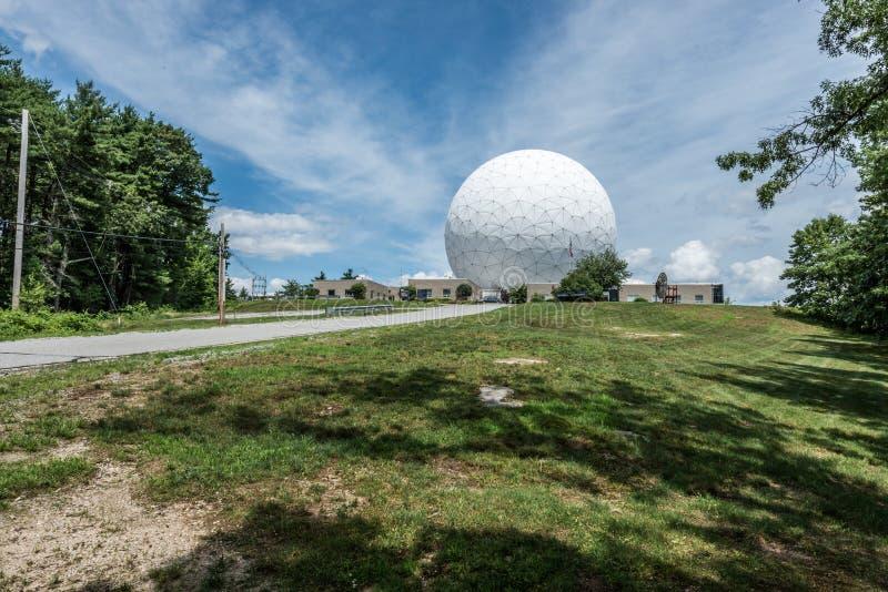 Обсерватория стога сена Массачусетсского института стоковое изображение
