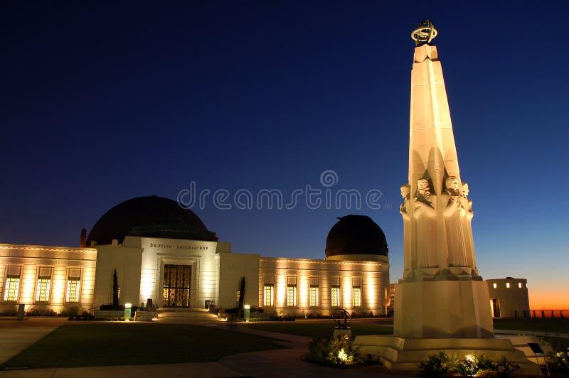 обсерватория la griffith стоковое изображение rf