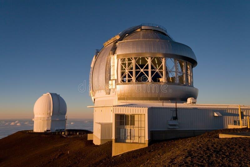 обсерватория mauna kea стоковые фото