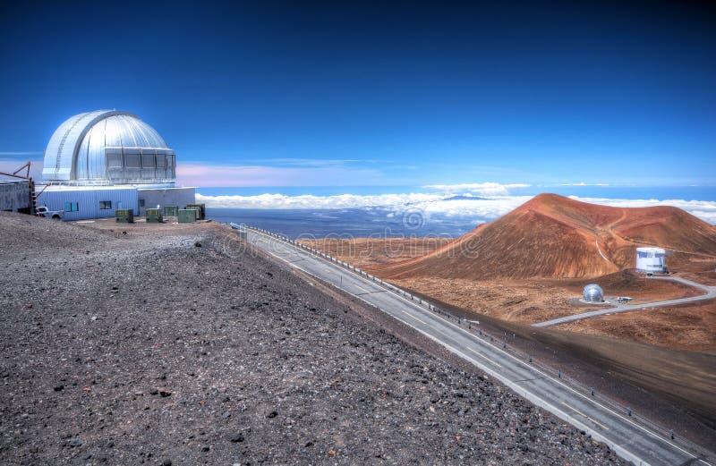 обсерватория mauna kea стоковое изображение