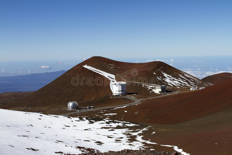 обсерватория mauna kea стоковые изображения