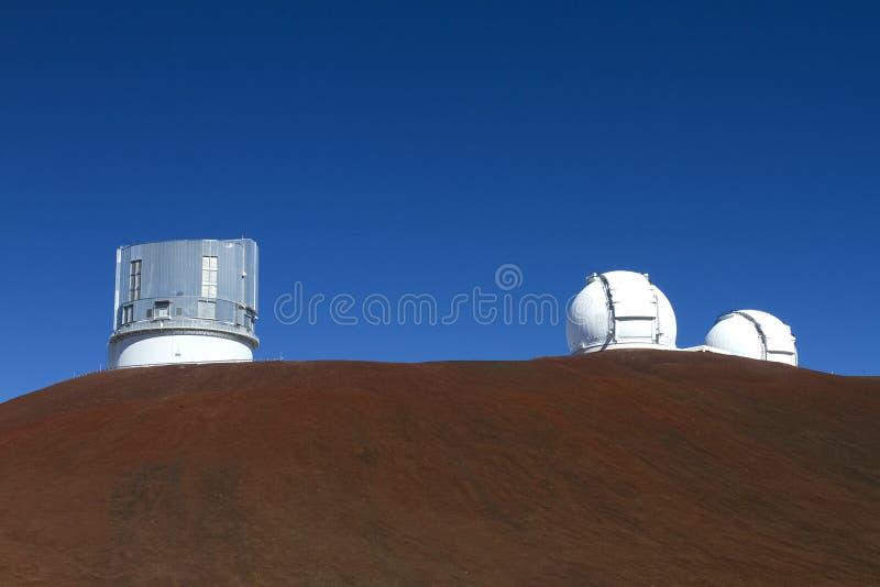 обсерватория mauna kea стоковое фото rf