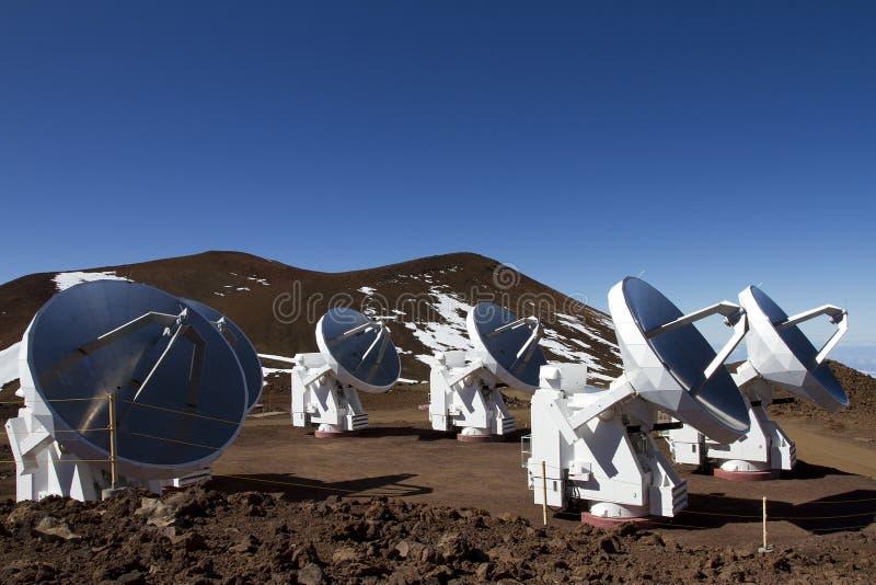 обсерватория mauna kea стоковая фотография rf