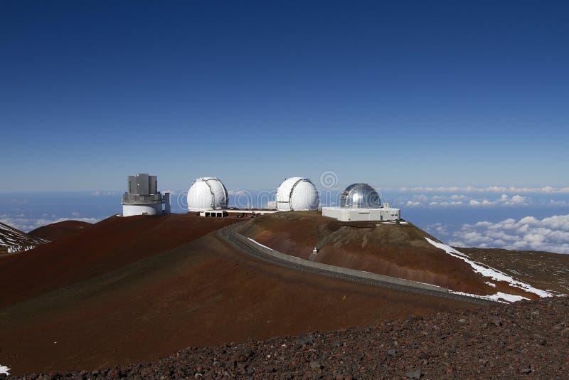 обсерватория mauna kea стоковые фотографии rf