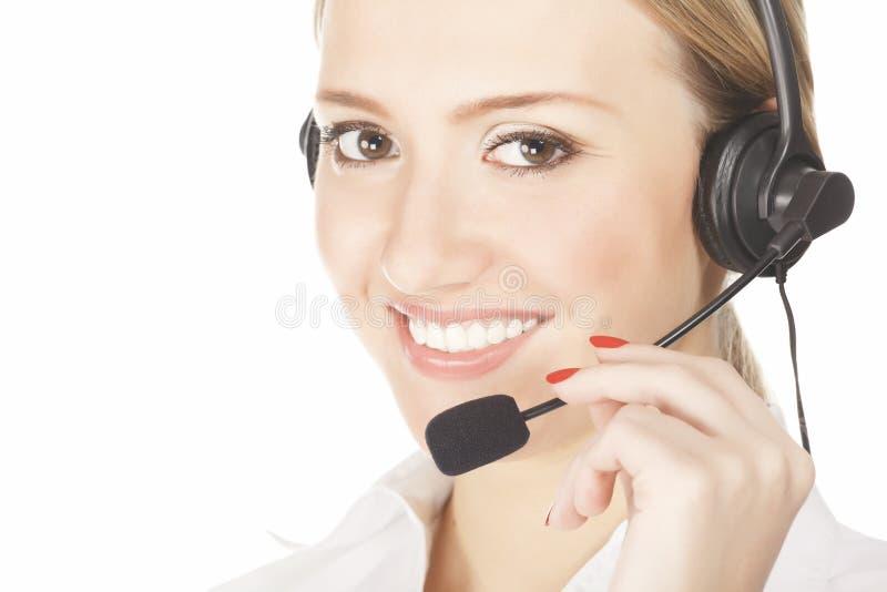 Обслуживайте женщину оператора стоковое фото