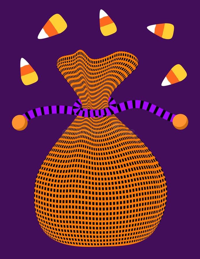 обслуживание вкладыша halloween иллюстрация вектора