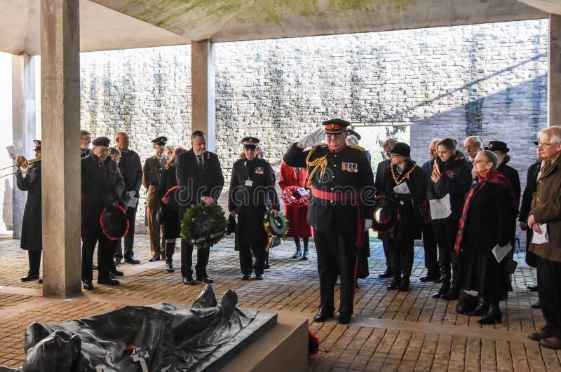 Обслуживание день памяти погибших в первую и вторую мировые войны, гоньба Cannock стоковые изображения rf