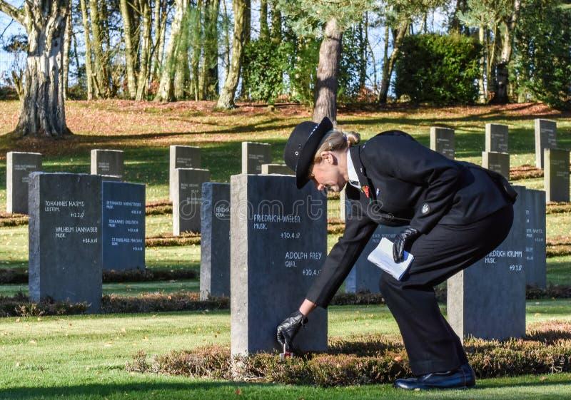Обслуживание день памяти погибших в первую и вторую мировые войны, гоньба Cannock стоковые изображения