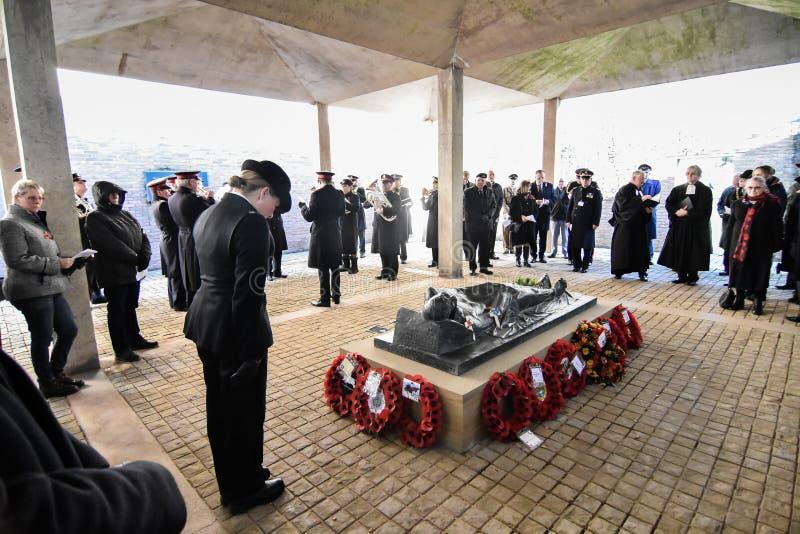 Обслуживание день памяти погибших в первую и вторую мировые войны, гоньба Cannock стоковое изображение rf