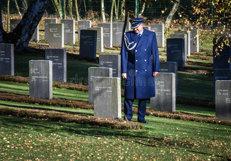 Обслуживание день памяти погибших в первую и вторую мировые войны, гоньба Cannock стоковое изображение