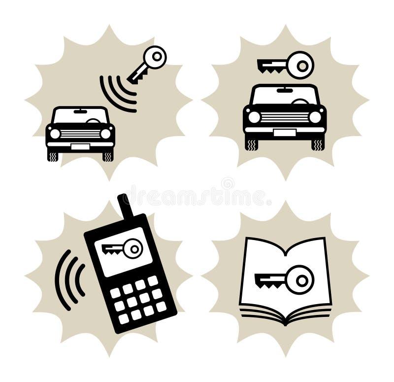 обслуживание иконы автомобиля бесплатная иллюстрация