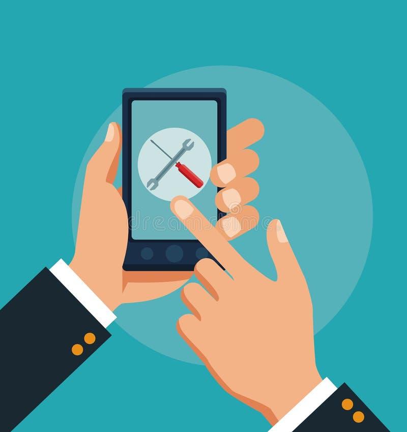 Обслуживание клиента и служба технической поддержки бесплатная иллюстрация