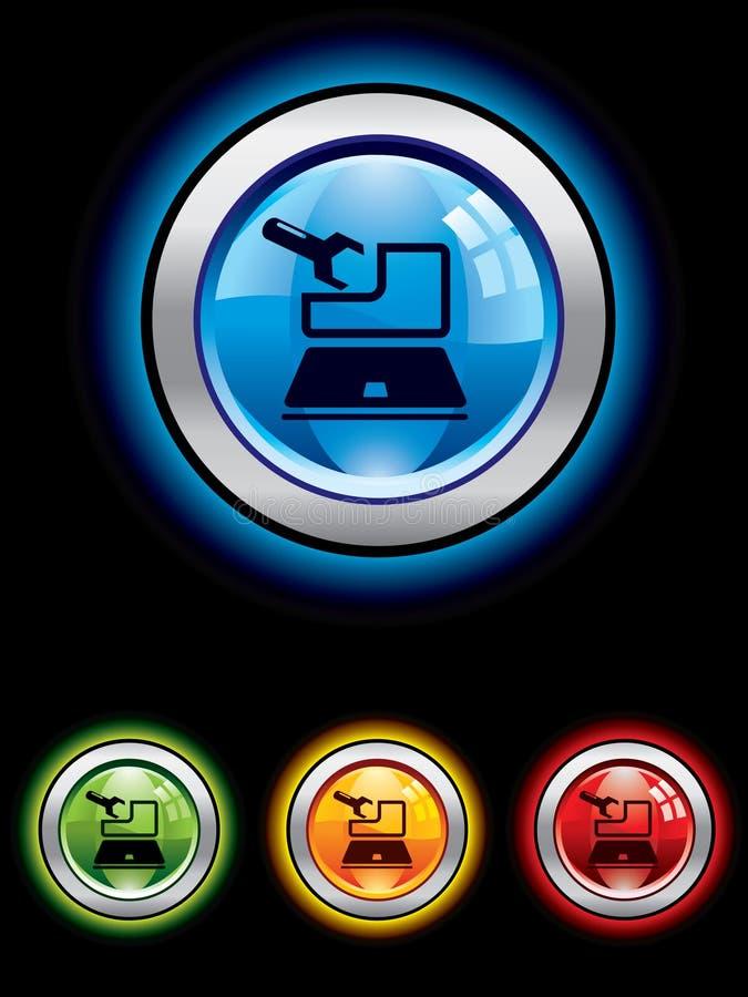 обслуживание кнопки лоснистое бесплатная иллюстрация