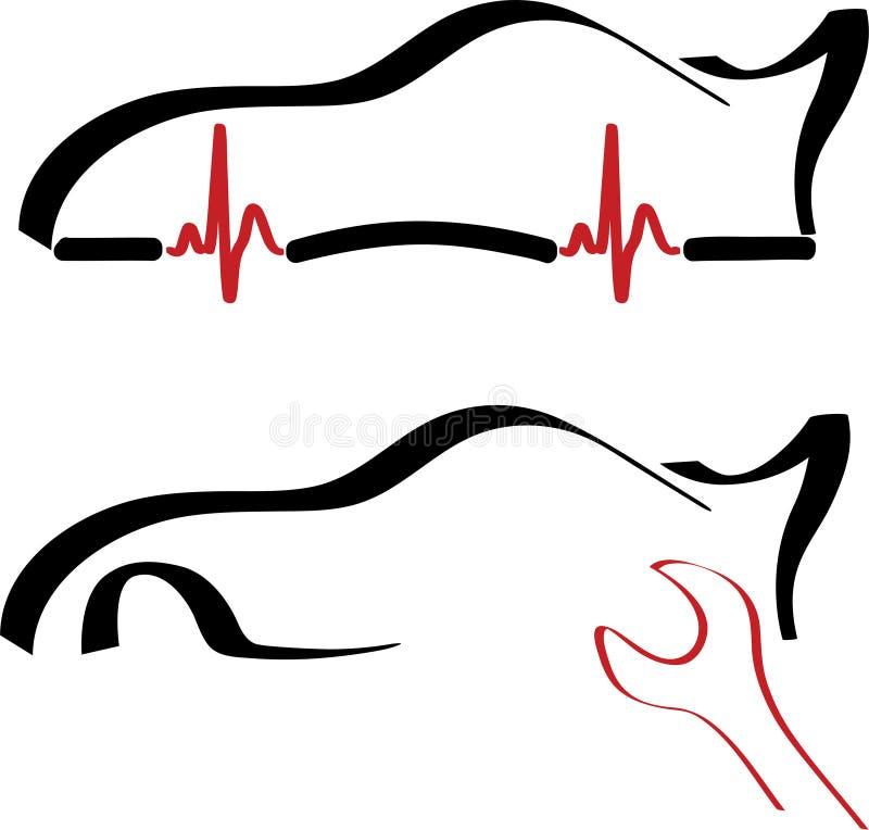 обслуживание логоса автомобиля иллюстрация штока